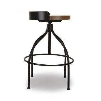 Modern wood and metal bar stool