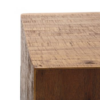 Contemporary wood and metal night side table