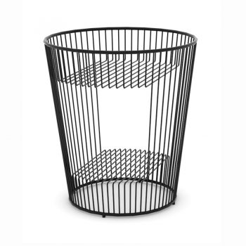 Industrial modern metal wire round side table