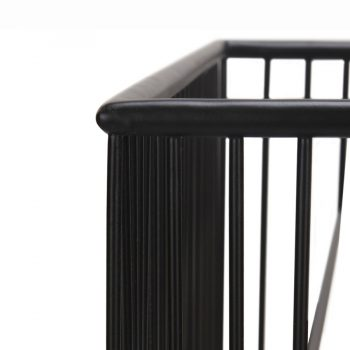Industrial modern metal wire square side table