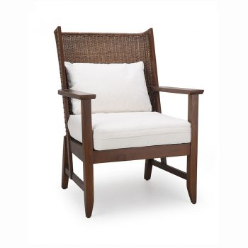 Traditional Filipino wicker accent lounge chair