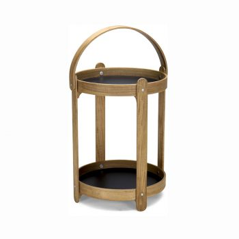 Bentwood and laminated formica basket side table