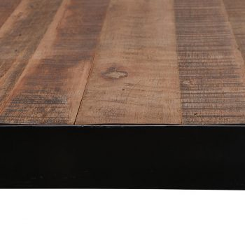 Chunky reclaimed wood and metal dining table