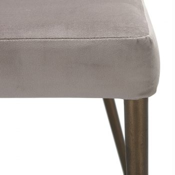 Mid-century modern velvet and metal dining chair