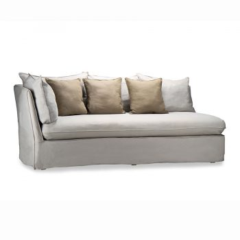 Modern wooden sectional slipcover sofa with cushion and pillow