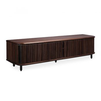 Mid-century modern solid wood and metal entertainment cabinet media center