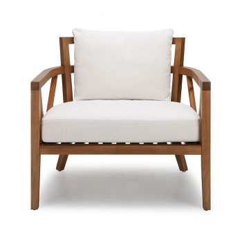 Modern contemporary solid wood accent lounge chair
