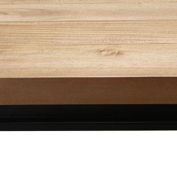 Solid wood and metal sleek modern long dining table