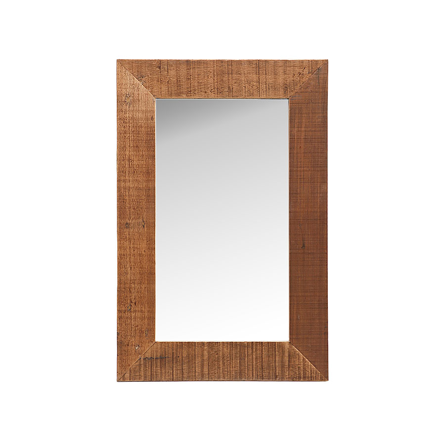 Traditional chunky solid wood rectangular mirror frame