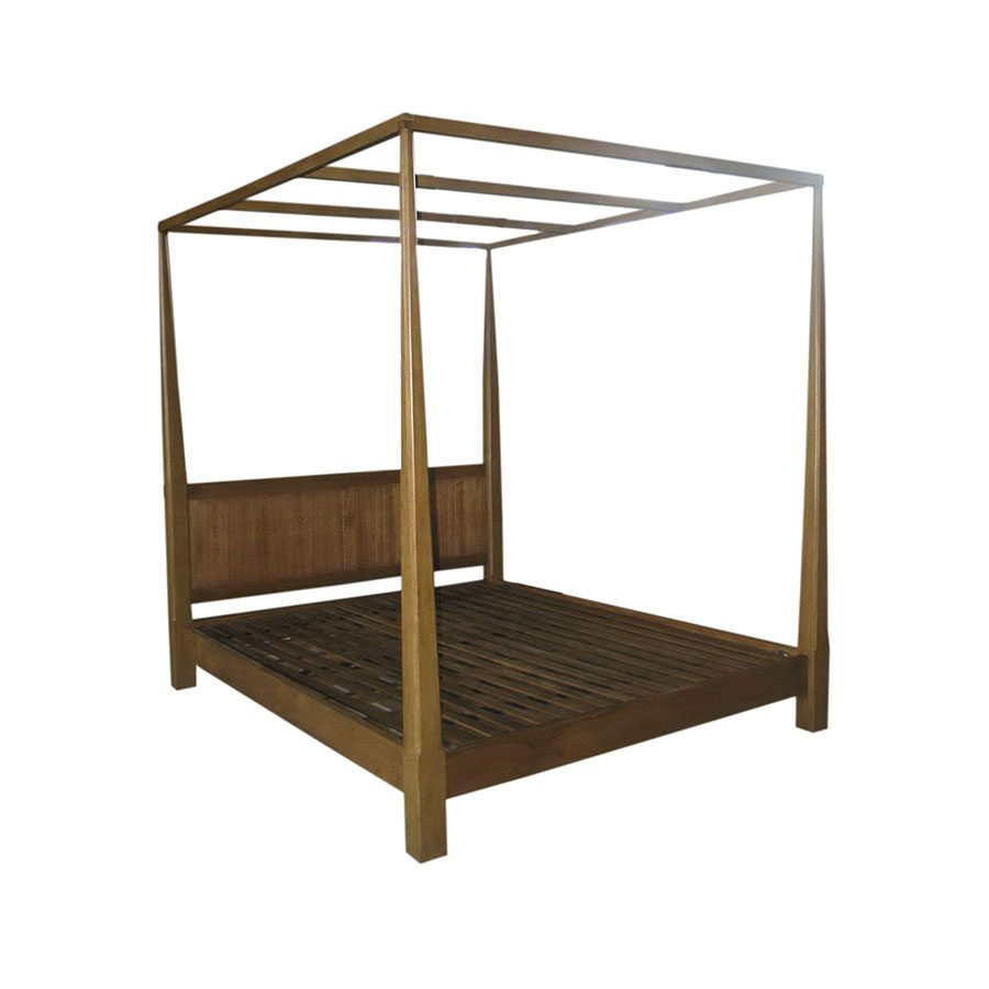 Tropical Filipino solid wood traditional 4 post canopy bed