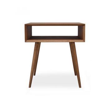 Mid-century modern solid wood minimalist night side table