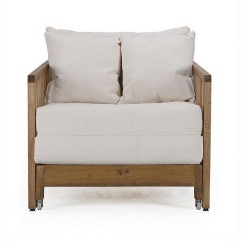 Modern tropical wood sofa daybed single lounger