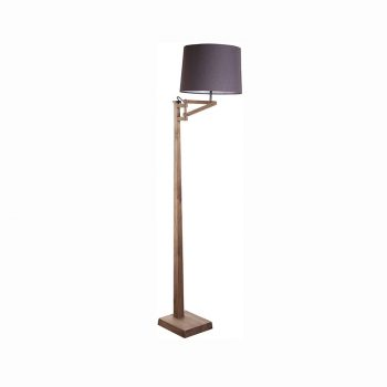 Modern contemporary solid wood and cloth shade floor lamp