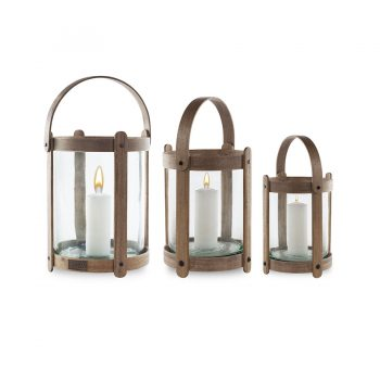 Romantic french style basket-like bentwood lantern