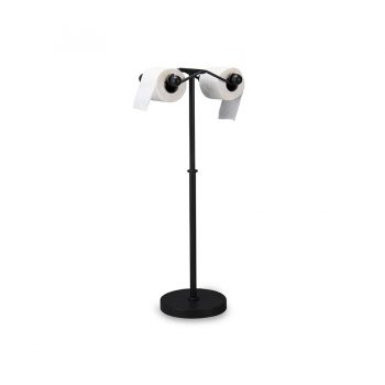 Industrial modern metal double spool tissue stand