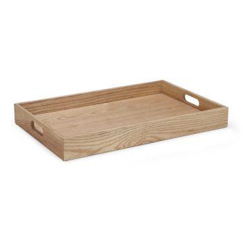 Modern elegant bar or kitchen wooden serving tray