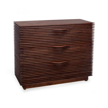 Contemporary solid wood slats sideboard buffet table cabinet