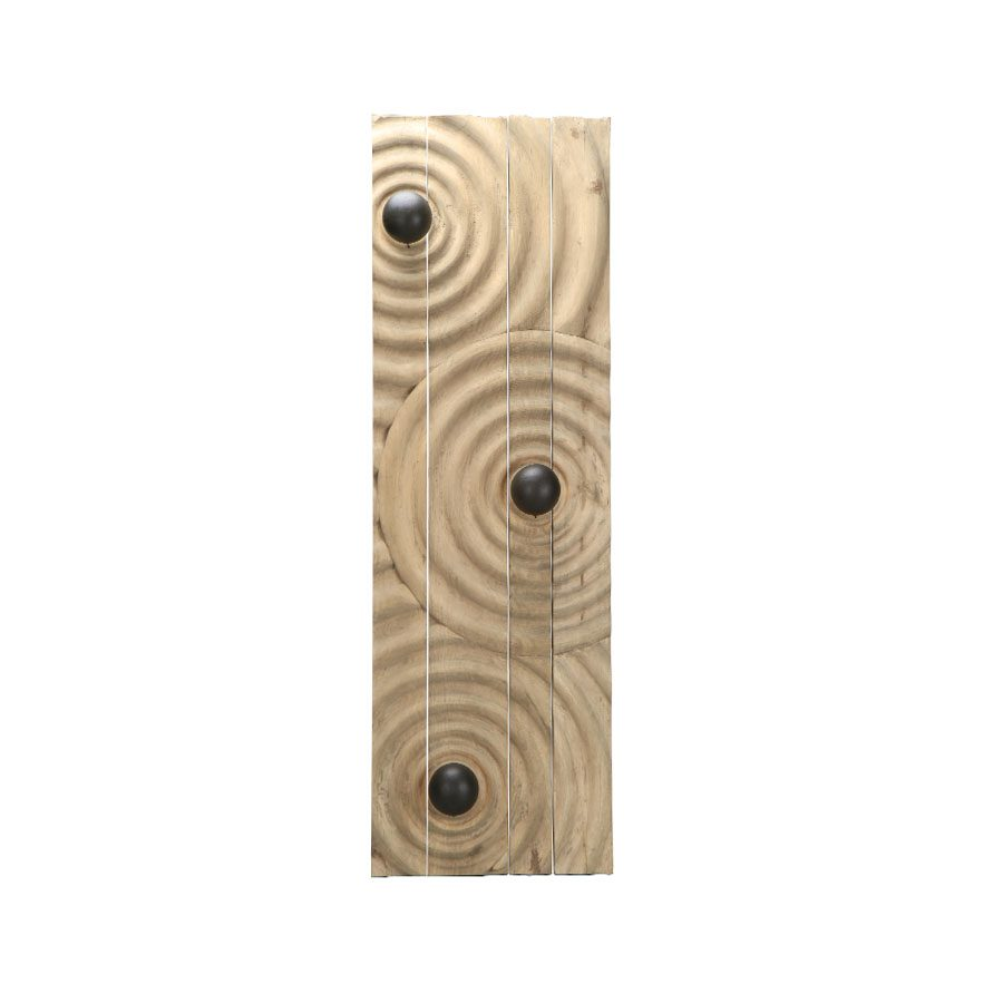 Contemporary handcarved solid wood 'ripples on a water surface' rectangular lighted wall art