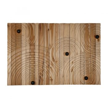 Contemporary handcarved solid wood 'ripples on a water surface' lighted wall art