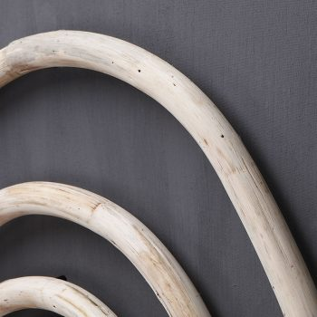 Modern contemporary wooden twisted scrollwork lighted wall art