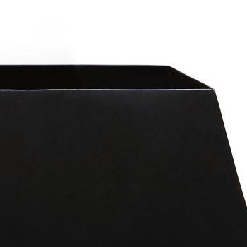 Minimalist sleek modern metal and tapered fabric shade floor lamp