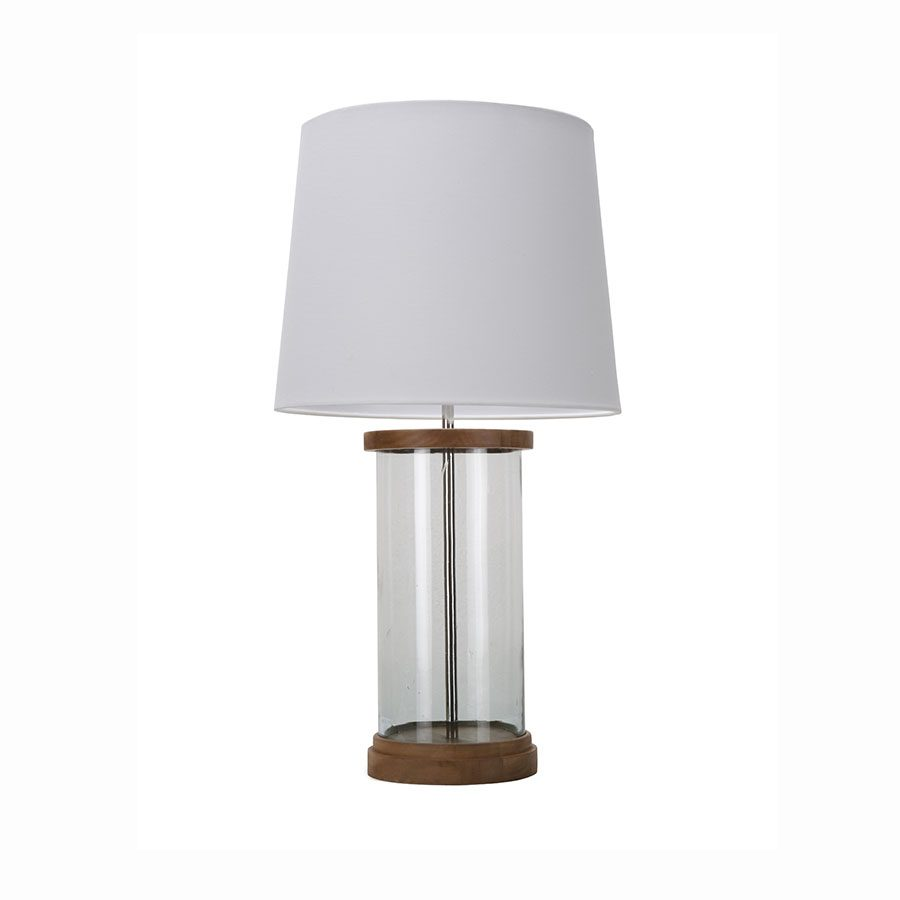 Contemporary solid wood glass metal decoravtove accent table lamp