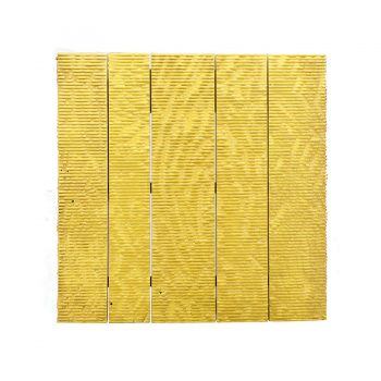 Contemporary handcarved solid wood metal bright color wall art