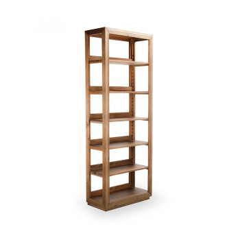 Rustic traditional solid wood six layer bookcase
