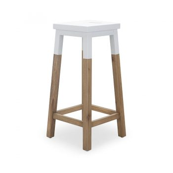 Contemporary modern wooden square stool