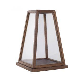 Contemporary minimalist pyramid wooden lantern tabletop decor