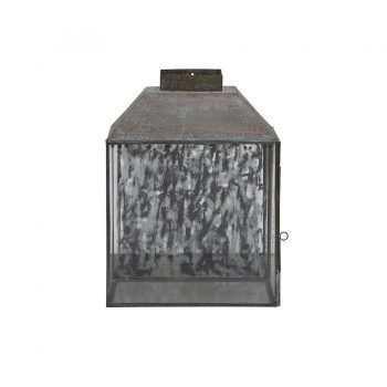 Industrial vintage metal and glass frame wall lamp