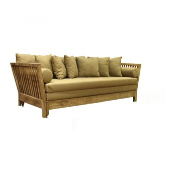Solid wood sofa bed double lounger