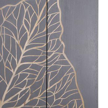 Modern contemporary solid wood leaf wall art