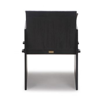 Solid wood crate cabinet box accent dining chair with traditional wood joinery