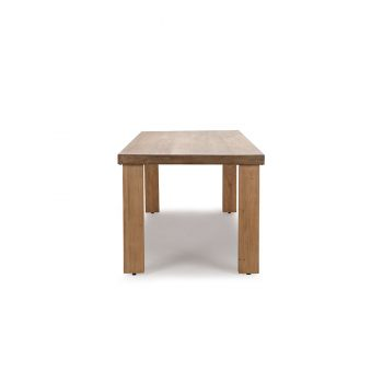 Chunky vintage contemporary reclaimed wood dining table
