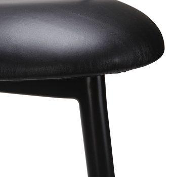 Solid Walnut wood three-legged accent chair bar stool