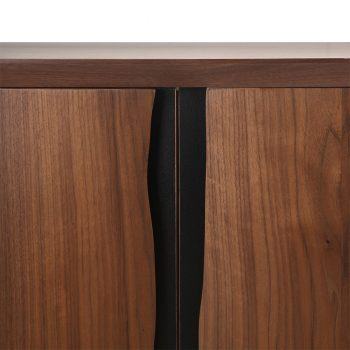 Contemporary live edge solid walnut wood sideboard