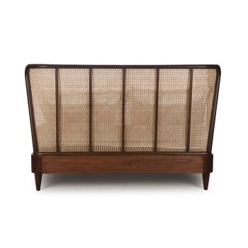 Solihiya classic wingback solid wood low bed