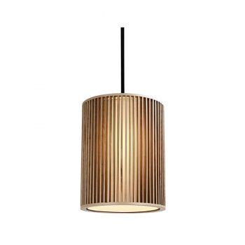 Modern contemporary slatted wood pendant lamp