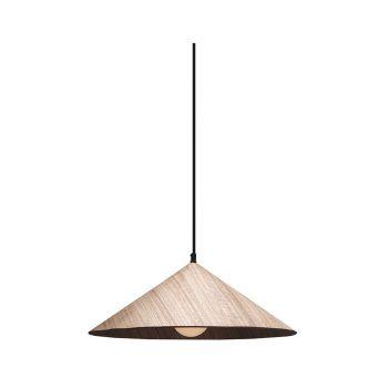 Modern contemporary mountain peak-shaped triangular wood veneer hanging lamp
